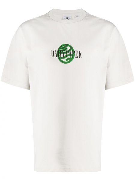 Koszula krótkie z krótkim rękawem prosto z nadrukiem Daily Paper