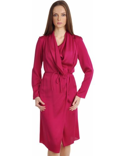 Шелковое платье - розовое Lanvin