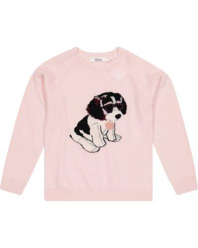 Розовый кашемировый свитер Bonpoint