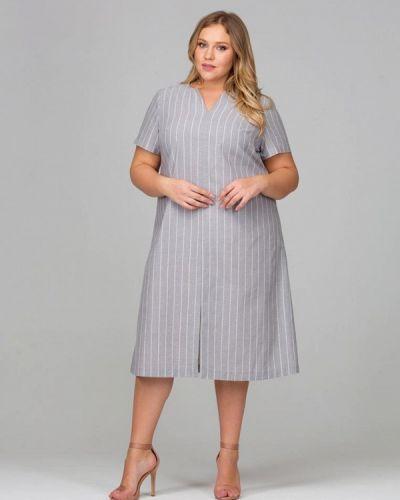 Серое платье весеннее Intikoma