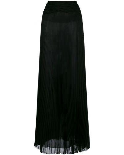 Плиссированная юбка макси прозрачная шелковая Roberto Cavalli