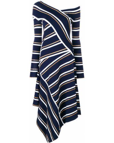 Синее платье асимметричное Cédric Charlier