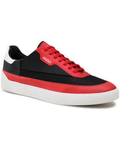 Czerwone sneakersy Hugo