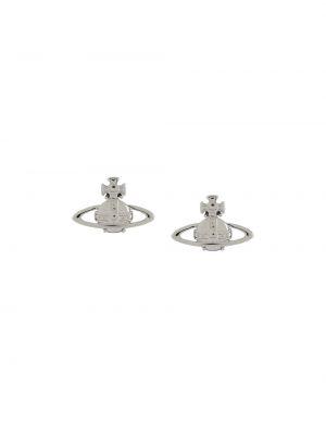 Серьги-гвоздики - серебряные Vivienne Westwood