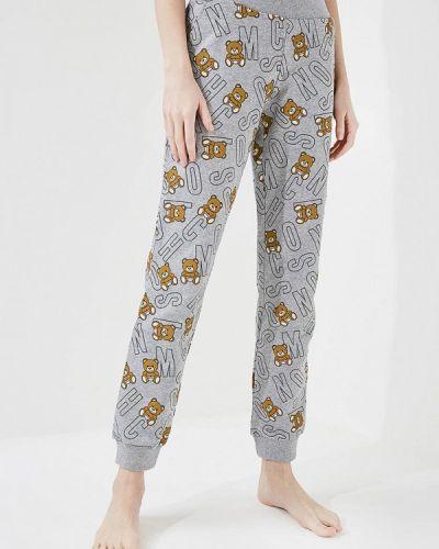 Серые брюки домашние Moschino