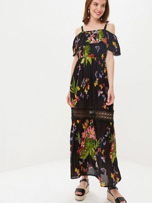 Платье с открытыми плечами весеннее Camomilla Italia