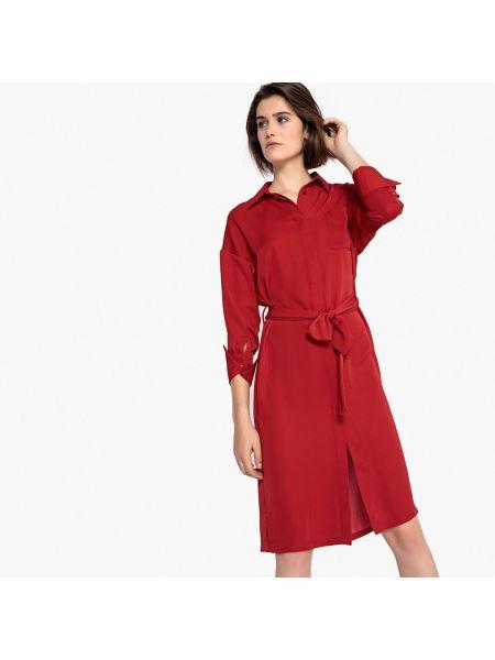 Платье миди платье-рубашка коктейльное La Redoute Collections