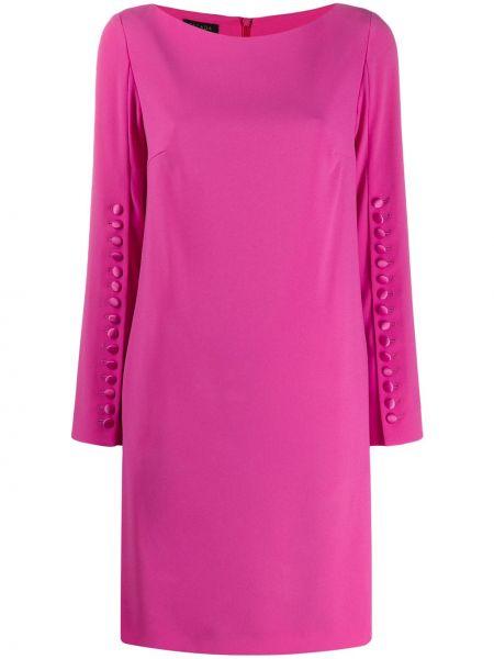 Różowa sukienka mini z długimi rękawami Escada
