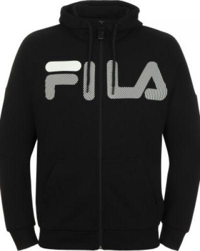 Черный джемпер на молнии с капюшоном Fila