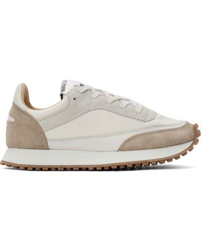 Białe sneakersy koronkowe Spalwart
