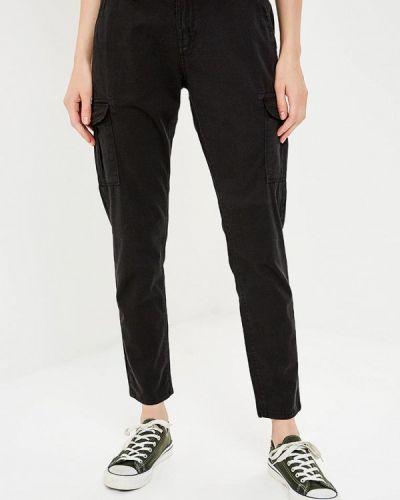 Черные брюки с завышенной талией Gaudi