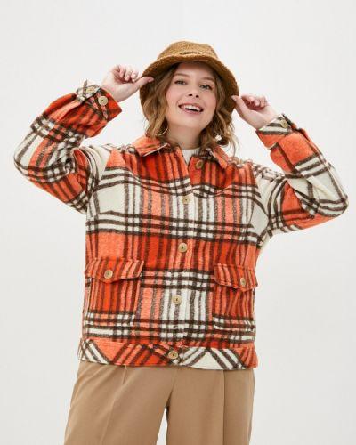 Оранжевое пальто Ulla Popken