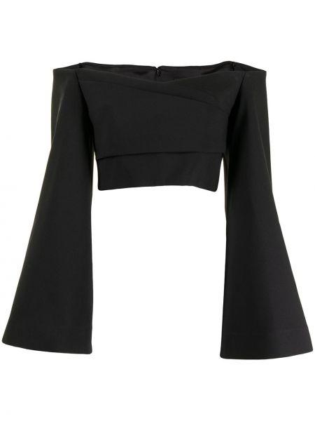 Блузка с открытыми плечами - черная Solace London