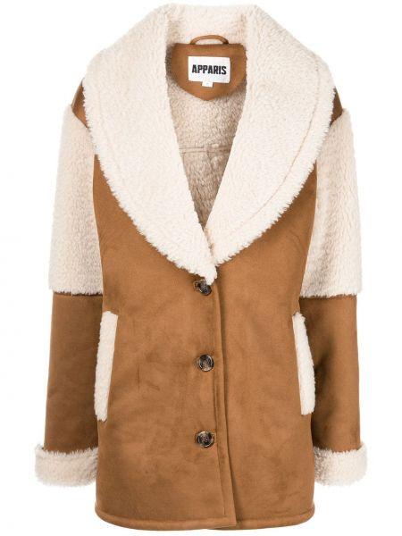 Brązowy długi płaszcz Apparis