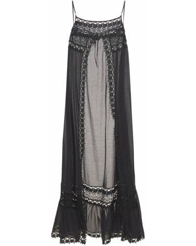 Хлопковое платье - черное Charo Ruiz