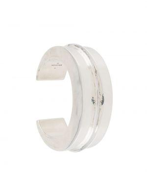 Серебряный массивный браслет без застежки Parts Of Four