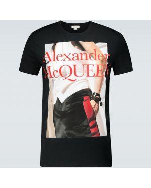 Koszula krótkie z krótkim rękawem z logo z nadrukiem Alexander Mcqueen