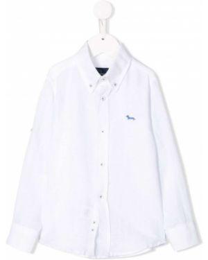 Белая рубашка на пуговицах с вышивкой с воротником Harmont & Blaine Junior
