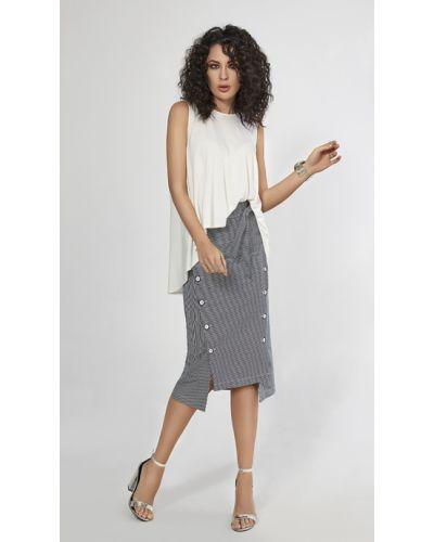 Белая прямая юбка Helena