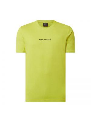 Zielony t-shirt bawełniany Paul & Shark