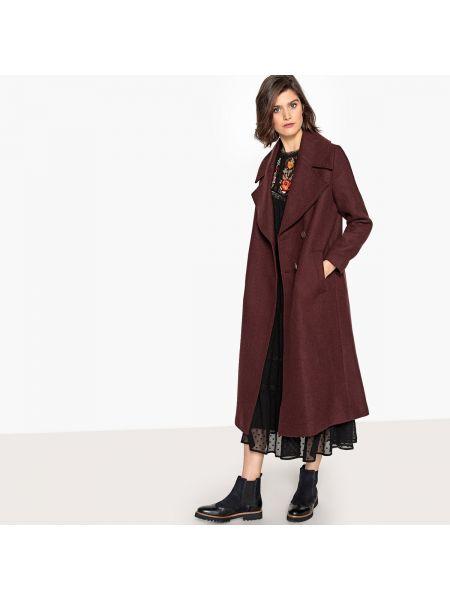 Длинное пальто расклешенное шерстяное La Redoute Collections