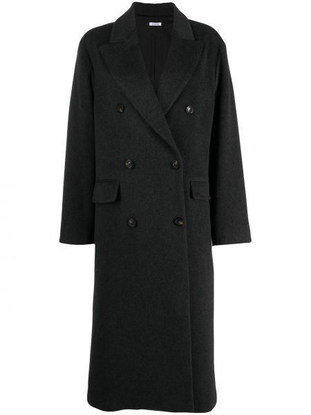 Серое кашемировое длинное пальто двубортное P.a.r.o.s.h.
