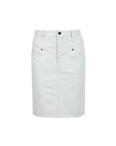 Джинсовая юбка белая Isabel Marant