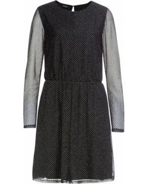 Платье с прозрачными рукавами с люрексом Bonprix