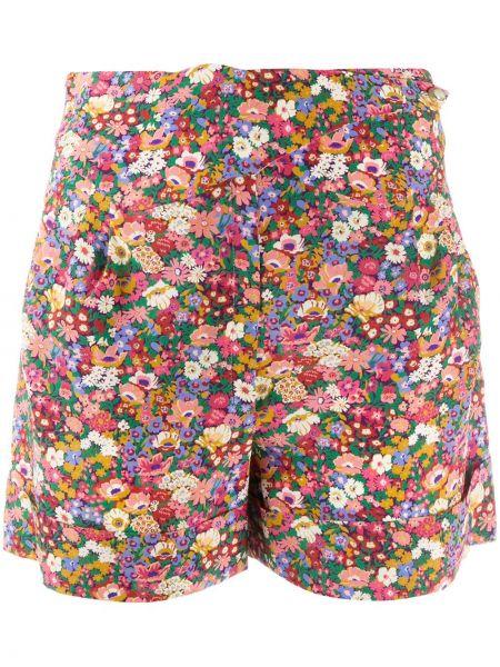 Шелковые однобортные розовые шорты Blazé Milano