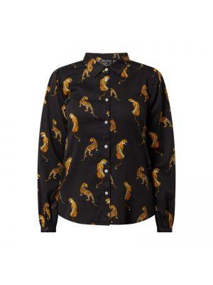 Czarna bluzka bawełniana z printem Risy & Jerfs
