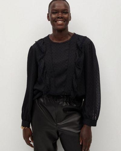 С рукавами черная блузка Violeta By Mango