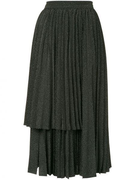 Черная плиссированная юбка Dalood