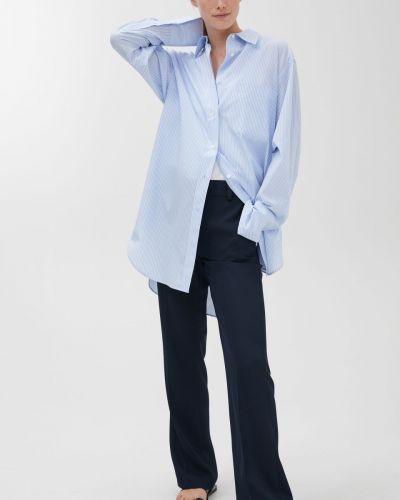 Шелковые брюки - синие Arket