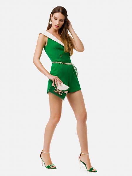 Комбинезон на молнии - зеленый Elisabetta Franchi