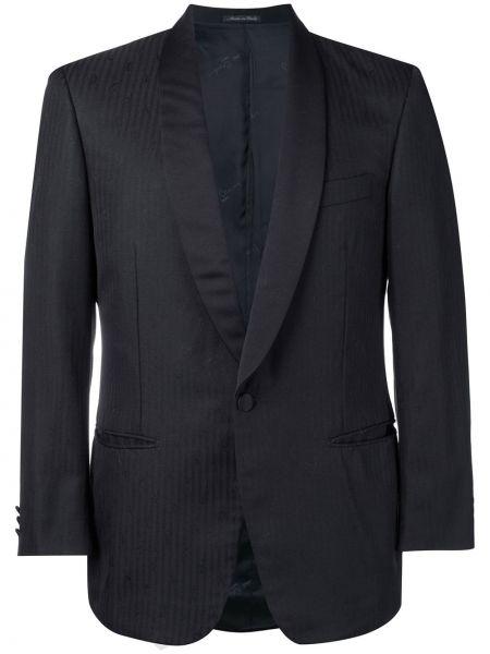 Черный прямой пиджак Pierre Cardin Pre-owned
