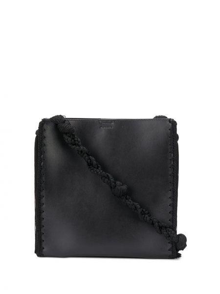 С ремешком черная сумка на плечо из натуральной кожи Jil Sander