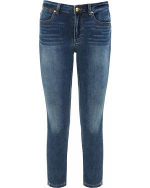 Укороченные джинсы синие с накладными карманами Michael Kors