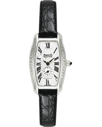 Часы на кожаном ремешке кварцевые водонепроницаемые с камнями Auguste Reymond