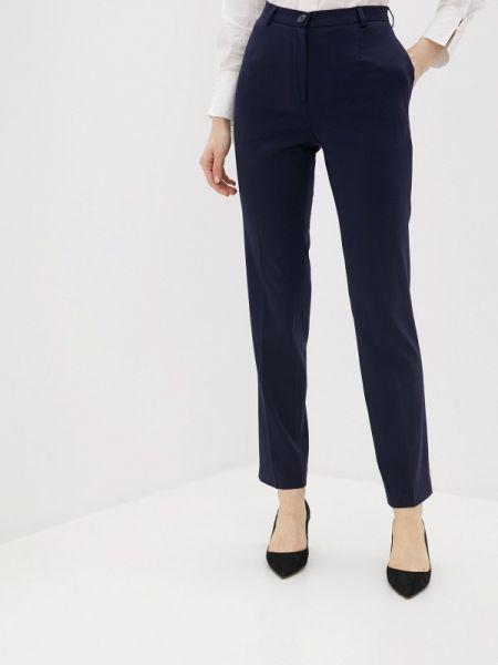 Синие классические брюки с карманами La Biali