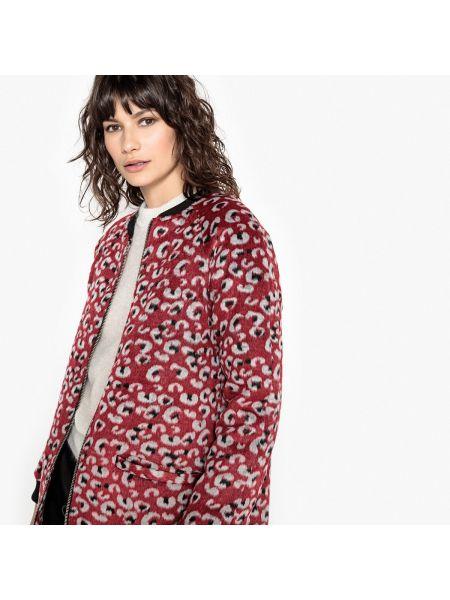 Пальто с принтом шерстяное La Redoute Collections