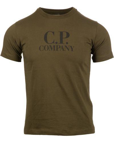 Zielona koszulka z printem C.p. Company