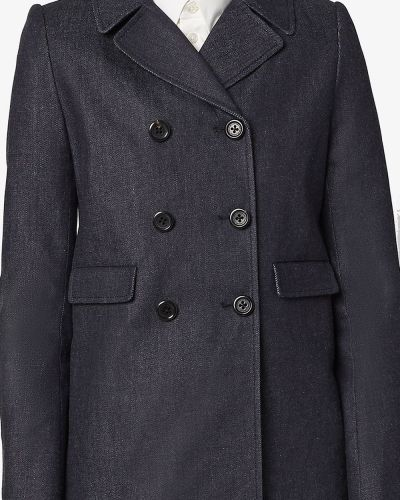 Серое длинное пальто двубортное с воротником Marc Jacobs