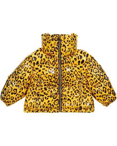 Пуховая куртка - желтая Dolce & Gabbana Kids