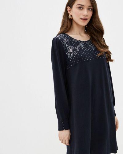 Прямое синее платье Sela