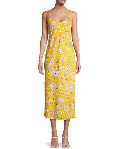 Платье миди в цветочный принт без рукавов на бретелях Bcbgeneration