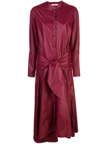 Платье с поясом на пуговицах платье-рубашка Tibi