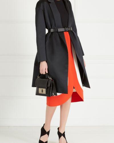 Платье с поясом со вставками шерстяное Michael Kors Collection