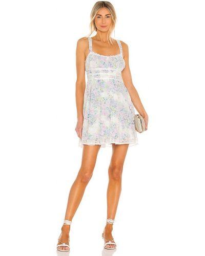 Кружевное платье мини - бежевое For Love & Lemons