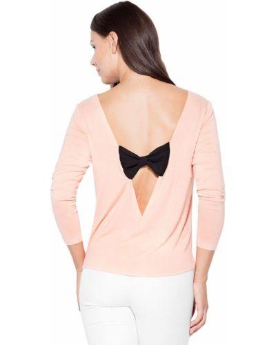 Różowa bluzka z wiskozy Katrus