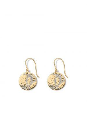 Żółte złote kolczyki sztyfty z diamentem Ippolita